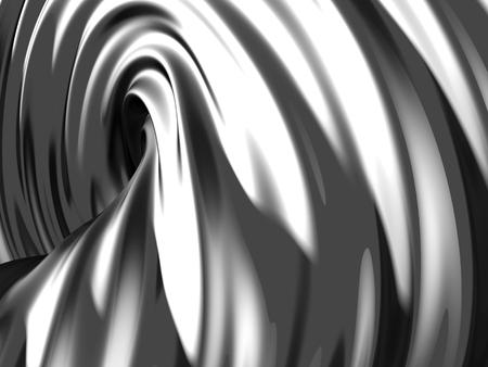 Elegant geometric minimalistic stripe chrome background. 3d render illustration