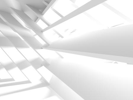 De abstracte Achtergrond van het Architectuur Moderne Ontwerp. 3D render illustratie