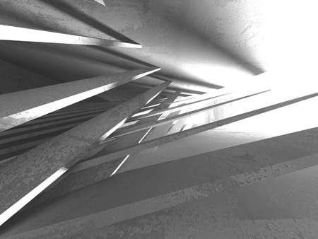 Abstract geometric concrete architecture background. 3d render illustration