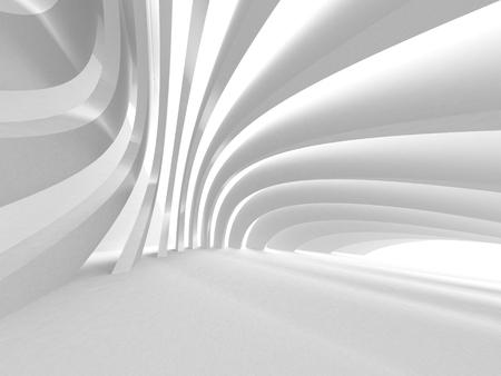 White Architecture Construction Modern Interior Background. 3d Render Illustration Фото со стока