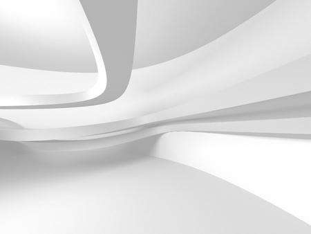 Futuristic White Architecture Design Background. 3d Render Illustration Stok Fotoğraf