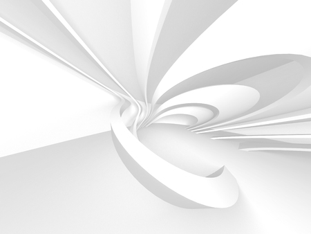White Architecture Construction Modern Interior Background. 3d Render Illustration Stock fotó - 116360500