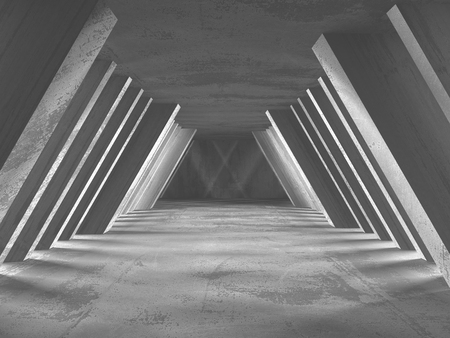 Abstract geometric concrete architecture background. 3d render illustration Stockfoto