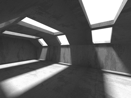 White Architecture Construction Modern Interior Background. 3d Render Illustration Reklamní fotografie - 122090725