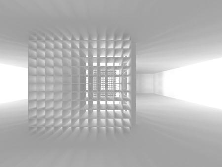 Abstract Modern White Architecture Background. 3d Render Illustration Reklamní fotografie