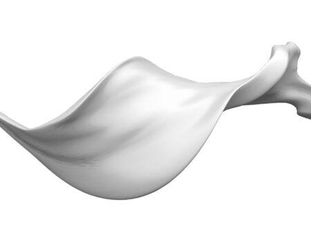Fresh milk splash on white background. 3d render illustration Stock Photo