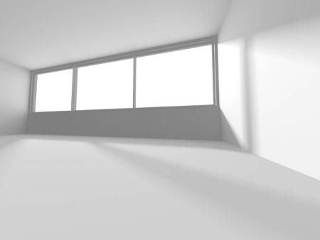 Futuristic White Architecture Design Background. Construction Concept. 3d Render Illustration Banque d'images - 131955831