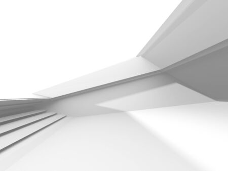 Futuristic White Architecture Design Background. Construction Concept. 3d Render Illustration Stockfoto
