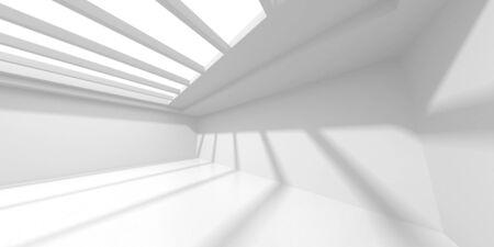 Futuristic White Architecture Design Background. Construction Concept. 3d Render Illustration 版權商用圖片