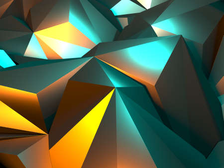 Triangle Polygon Colorful Abstract futuristic Background. 3d render Stockfoto