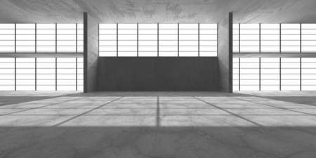 Abstract architecture interior background. Empty concrete room. 3d render 免版税图像