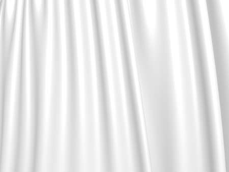 White fabric texture background. Luxury cloth background. 3d render illustration 免版税图像