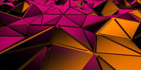 Triangle Poligon Colorful Abstract futuristic Background. 3d render