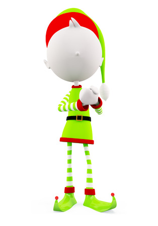 promise: 3d Elves with promise pose Stock Photo