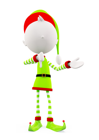 elves: 3d Elves with presentation pose