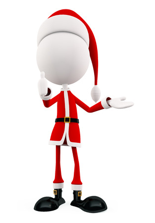 3d santa thumbs up pose photo
