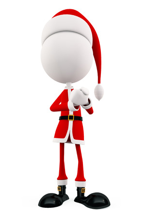 promise: 3d santa with Promise pose Stock Photo