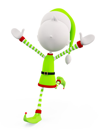 elves: 3d Elves with running pose Stock Photo