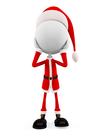 shocking: 3d santa with shocking pose Stock Photo