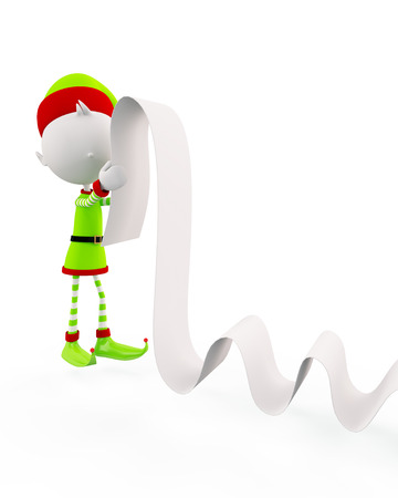 3d Elves with long list pose photo