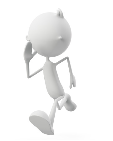 emulation: 3d illustration of white character with run pose
