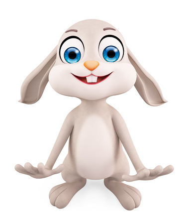 prodigious: 3d illustration of Easter Bunny with funny pose