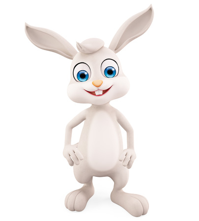 jack rabbit: 3d illustration of Easter Bunny with standing pose Stock Photo