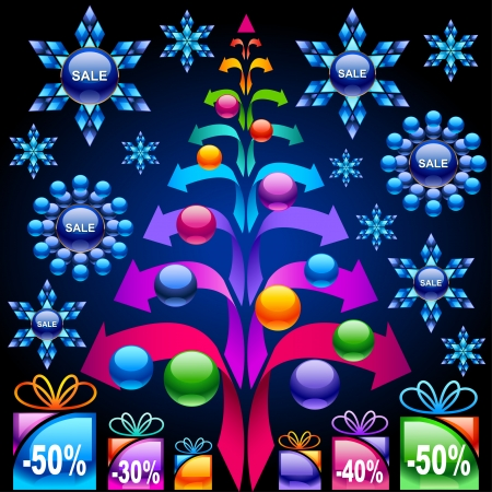 Christmas sale    This image is a scalable vector illustration of elements and can be scaled to any size without loss of quality  Stock Vector - 24542277