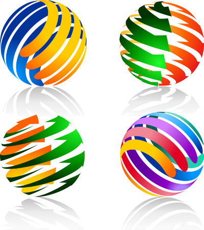 Colorful decorative elements for the logo   This image is a scalable vector illustration of elements and can be scaled to any size without loss of quality  Stock Vector - 24542307