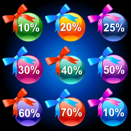 Colorful discount labels    This image is a scalable vector illustration of elements and can be scaled to any size without loss of quality  Stock Vector - 24542262