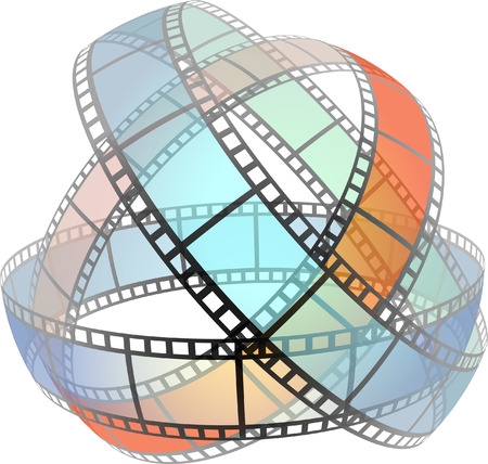 Film strip    This image is a scalable vector illustration of elements and can be scaled to any size without loss of quality Stock Vector - 24542389