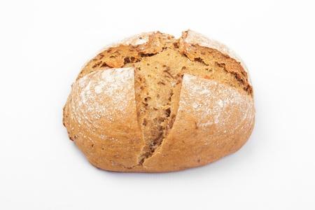 fresh farmhouse bread on a wooden board.