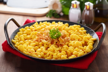 Spaetzle - noodles with grated cheese