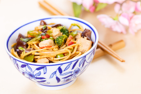 beansprouts: Chow mein - stir-fried noodles with vegetables