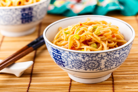 mie noodles: Mie noodles with a sweet and sour chili sauce