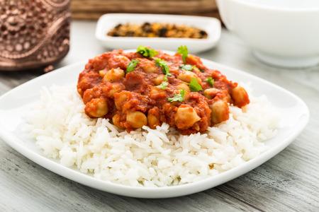 onion: Chana Masala - indian dish with chickpeas.
