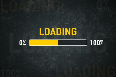 Loading bar: 0% - 100% Standard-Bild - 102665445