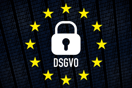 General Data Protection Regulation, GDPR - german text: DSGVO Standard-Bild - 102847872