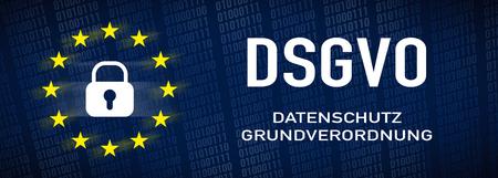 General Data Protection Regulation, GDPR - german text: Datenschutz-Gundverordnung Standard-Bild - 102909723