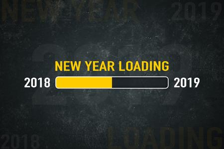 Loading bar 2018/2019: new year loading Standard-Bild - 111759620