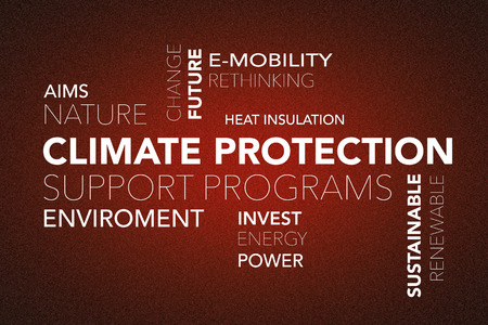 """Word cloud """"climate change"""" on a red background Standard-Bild - 104635265"""
