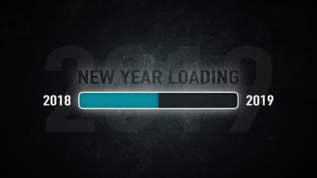 Loading bar 20182019: new year loading Reklamní fotografie