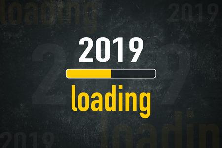 Loading bar: 2019 loading Standard-Bild - 111759622