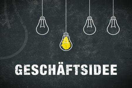 """Banner Business idea: German word """"Geschäftsidee"""" Standard-Bild - 104525012"""