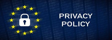 banner privacy policy Standard-Bild - 104525020