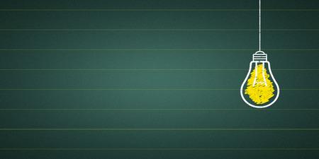 light bulb at a chalkboard Standard-Bild - 104697039