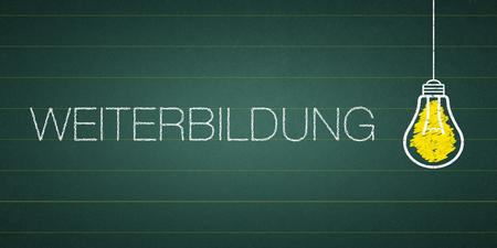 """Banner further educvation - German word """"Weiterbildung"""" Standard-Bild - 111759628"""