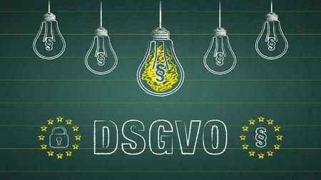 General Data Protection Regulation, GDPR - german text: DSGVO Standard-Bild - 111759651