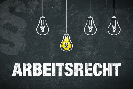 "Banner ""Arbeitsrecht"" in german language. Translation: labor law. Standard-Bild - 111759679"