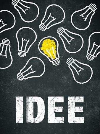 "Banner ""idee"" in german language. Translation: idea Standard-Bild - 111759685"